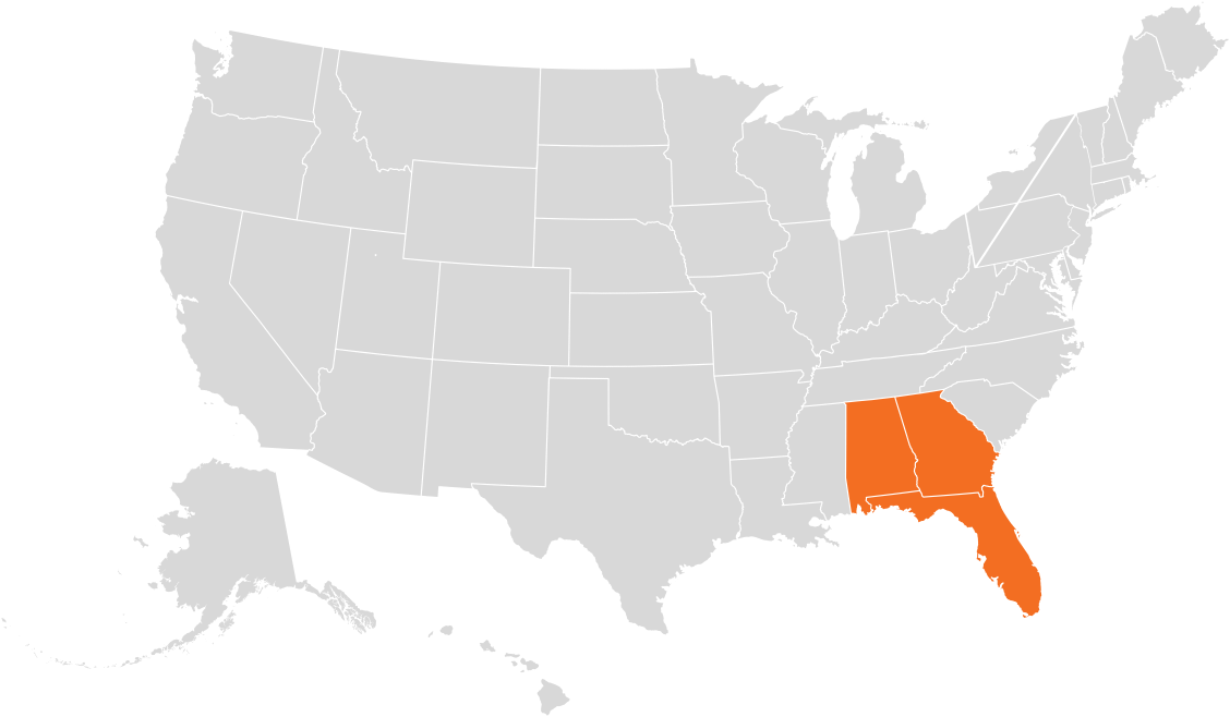 Gardner of Florida Map